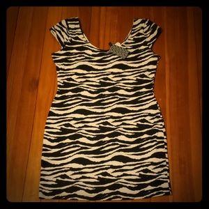 NWT H&M's zebra print dress